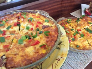 quiche with brown rice crust