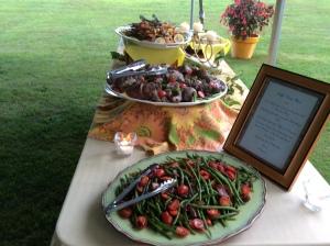 Dinner buffet al fresco