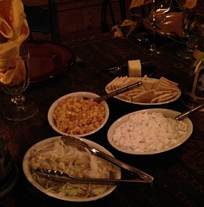 Oktoberfest dinner table