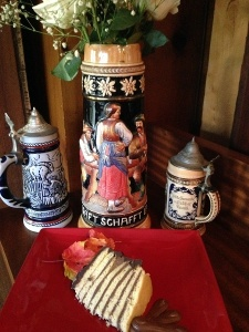 German steins & Cake
