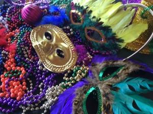 Mardis gras beads & masks