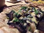 Portabello mushroom pizza