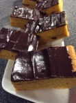 pumpkin bars with chocolate ganache